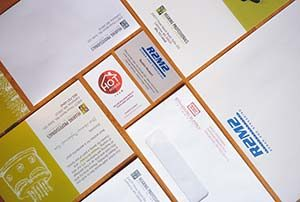 Different types of printed business material