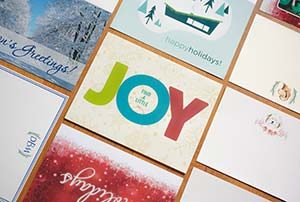 Greeting card examples