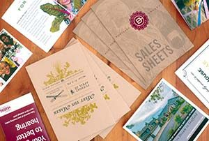 Flyers and brochure examples