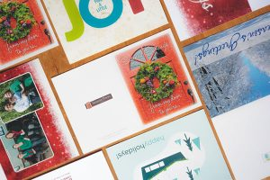Holiday greeting card examples