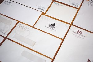 Custom printed envelopes with windows